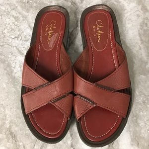 2ac2affe17b9 Cole Haan · Cole Haan G Series Nike Air Red slide sandals